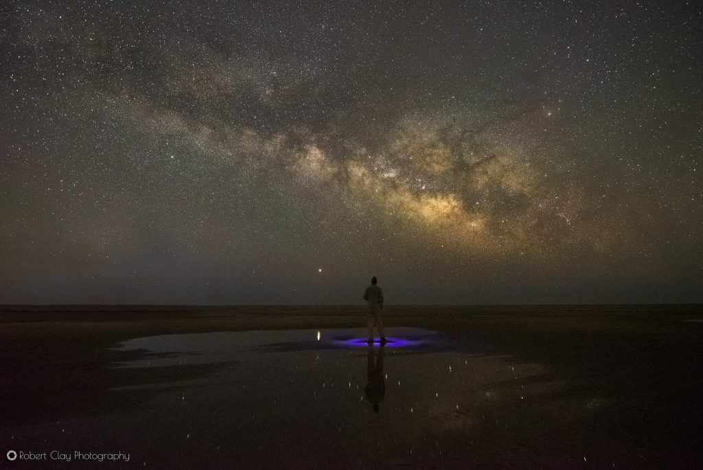 Some consideration for foreground lighting is needed to photograph the Milky Way.