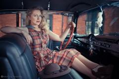 Blonde 50's Model