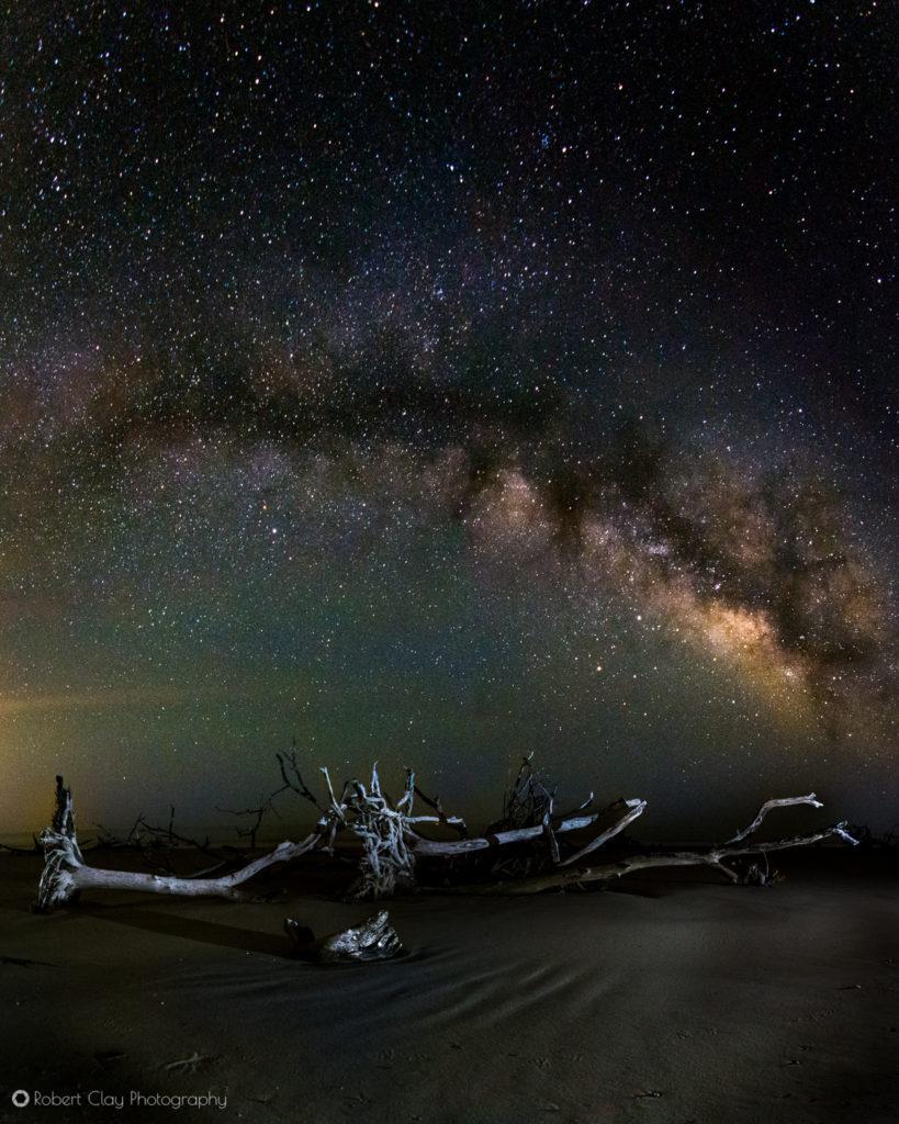 learning Milky Way photography on the South Carolina coast