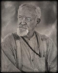 digital tintype portrait