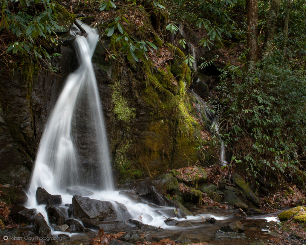 Cascading Water at Great Smoky Mountains National Park