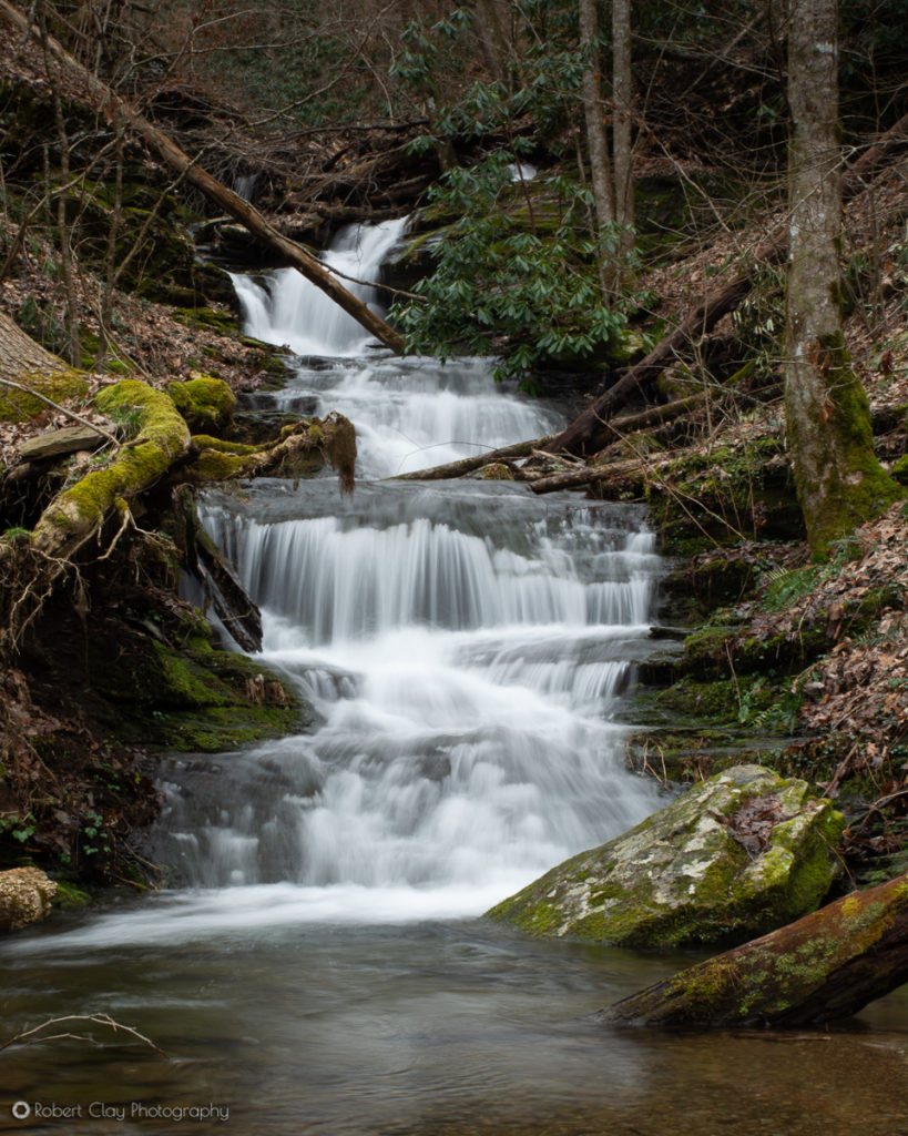 Lower Crooked Arm Cascades. Great Smoky Mountains National Park